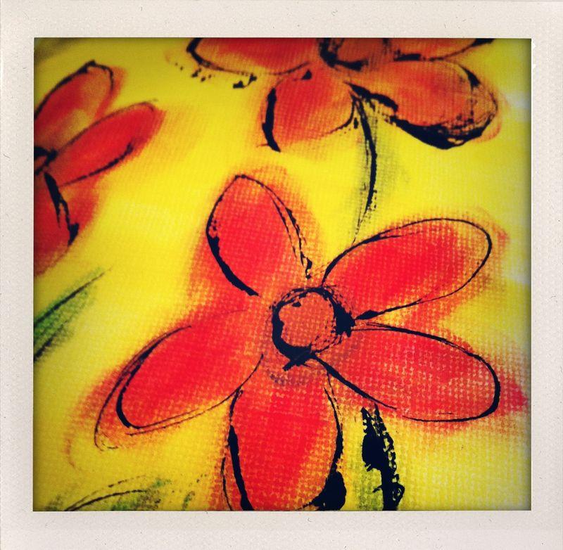 Pan pastel flowers