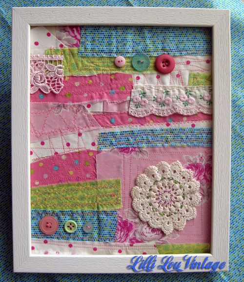 Textile art - pink